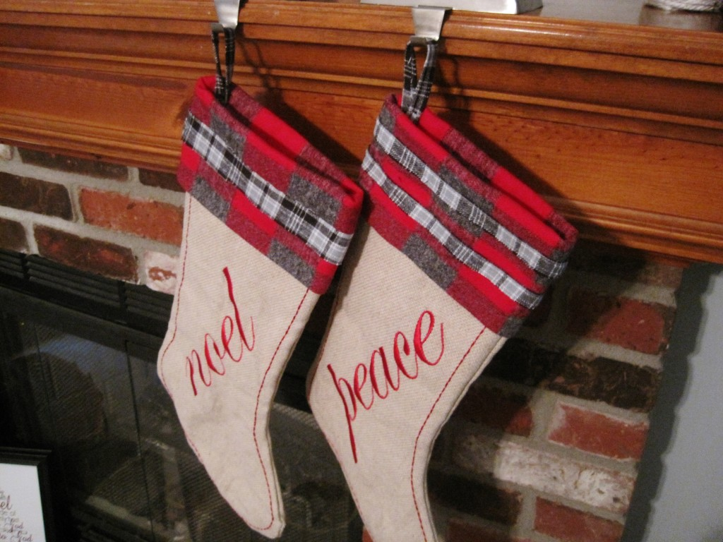 Finished Flannel Trimmed Stockings