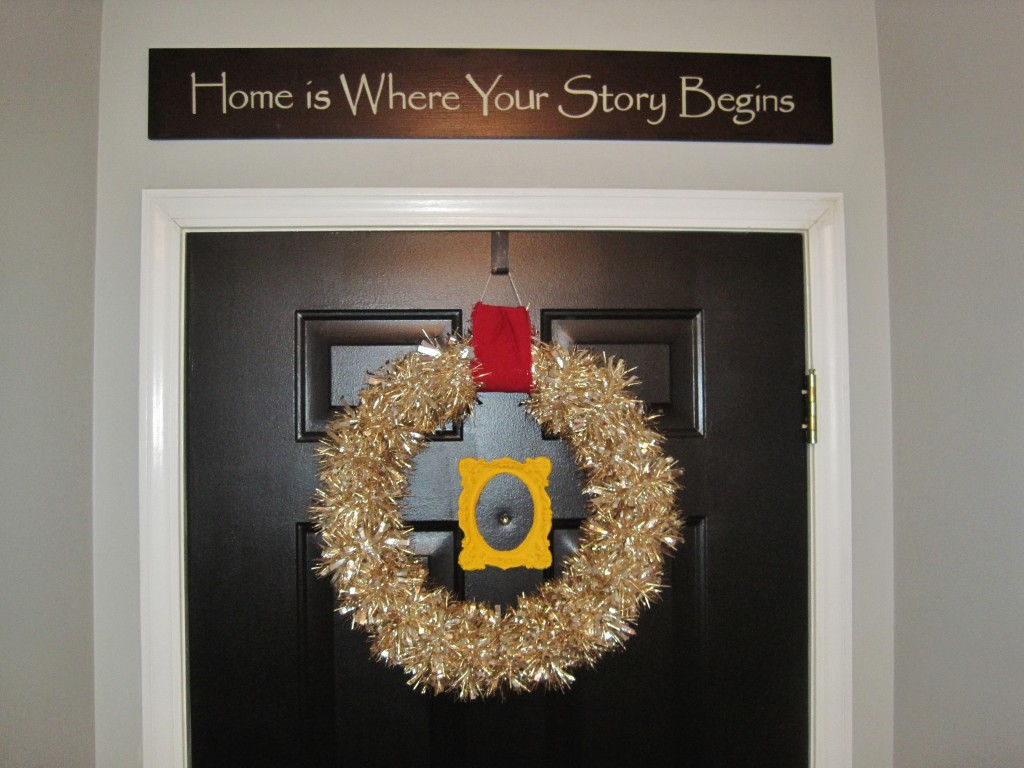 Finished Toilet Paper Tube Holiday Wreath