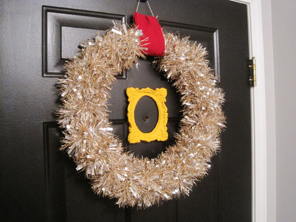 Finished Toilet Paper Tube Holiday Wreath 3