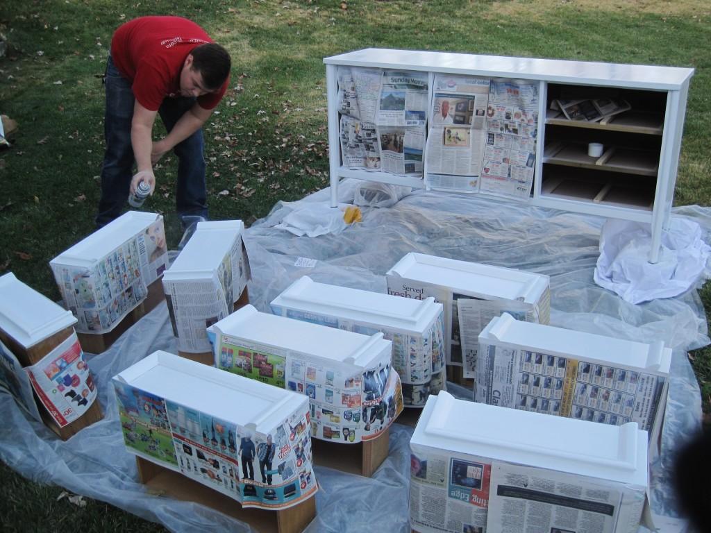 Painting Craiglist dresser 3