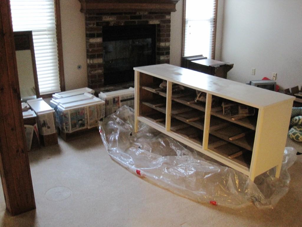 Painting Craiglist dresser 4