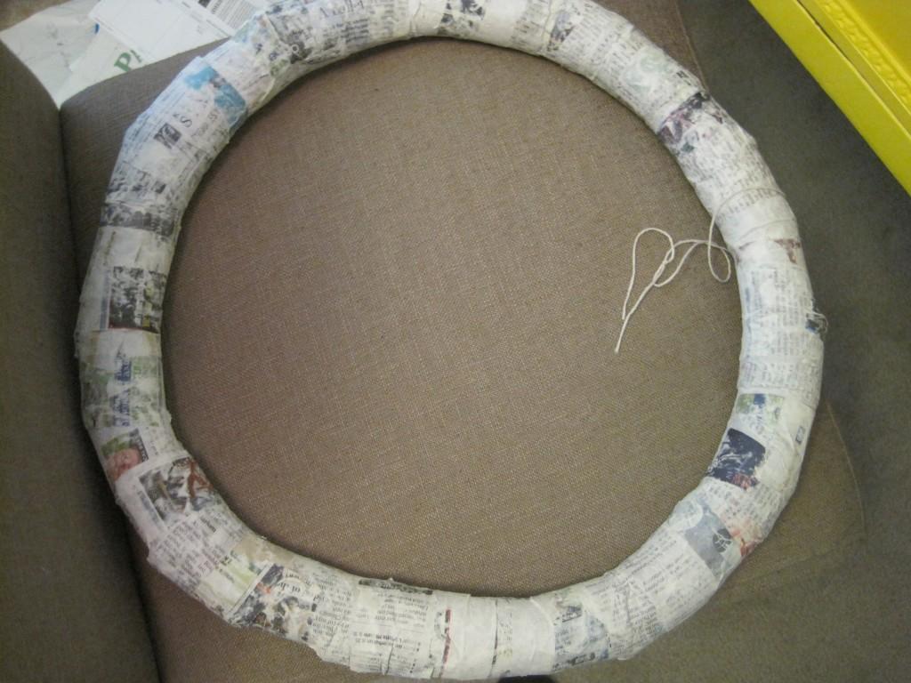 Paper Mache Toilet Paper Roll Wreath