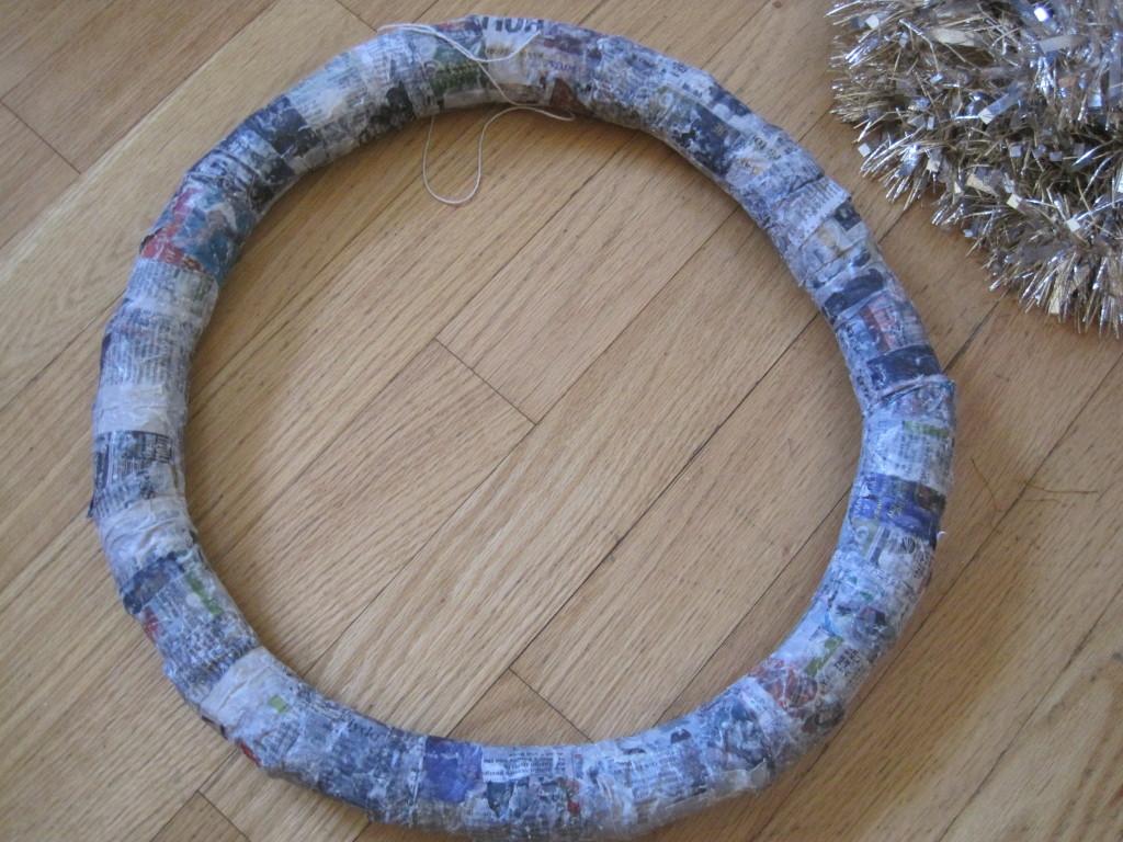 Paper Mache Toilet Paper Tube Wreath