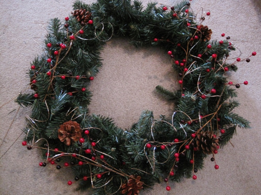 Wreath with natural elements