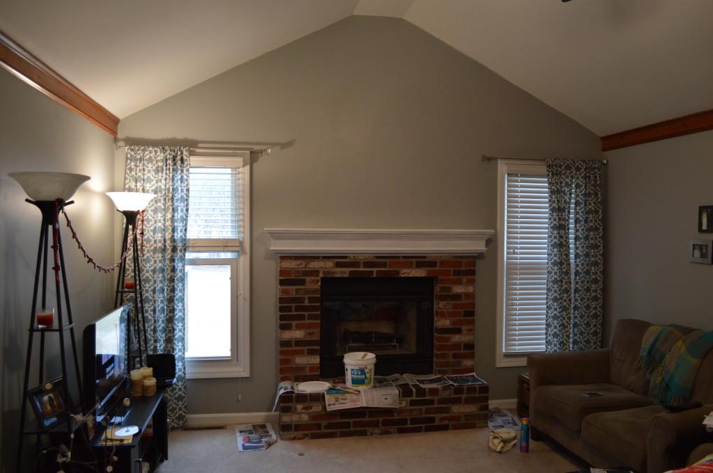 Primed Mantle Living Room