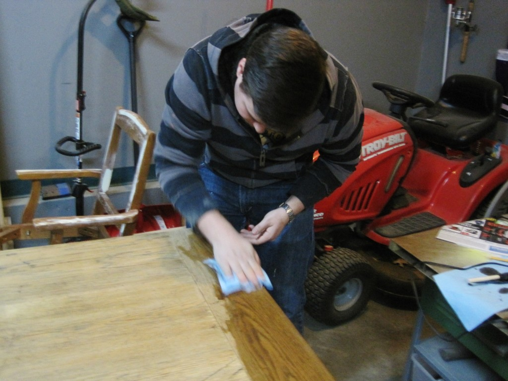 Staining table top