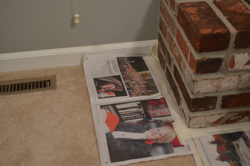 Taped Carpet Before Whitewash