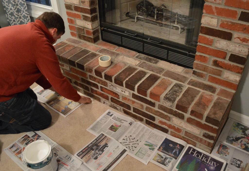 Taping Carpet Before Whitewash