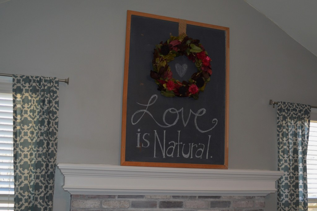 Valentine's Day Wreath and Chalkboard 2