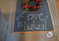 Valentine's Day Wreath and Chalkboard 4