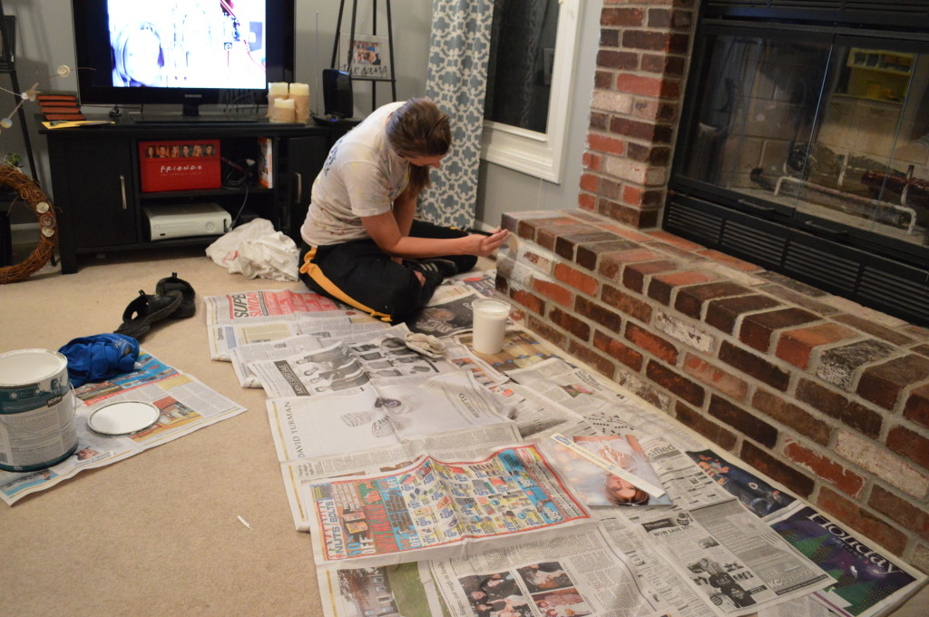 how to whitewash brick fireplace Whitewashing Brick Fireplace 2