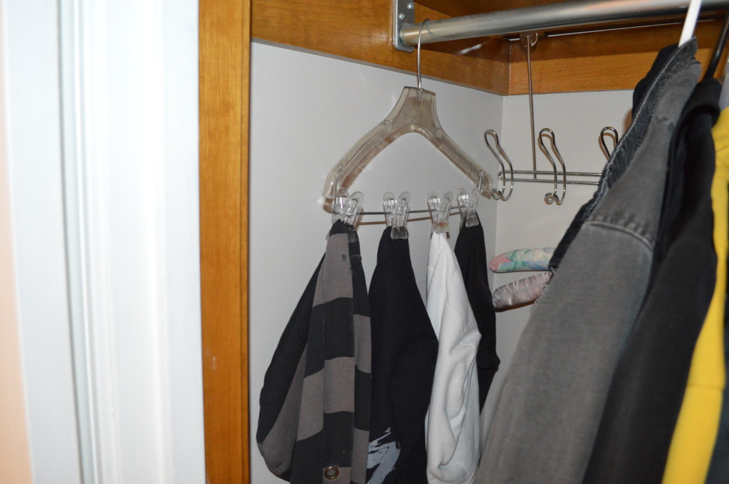 Hoodies in Coat Closet