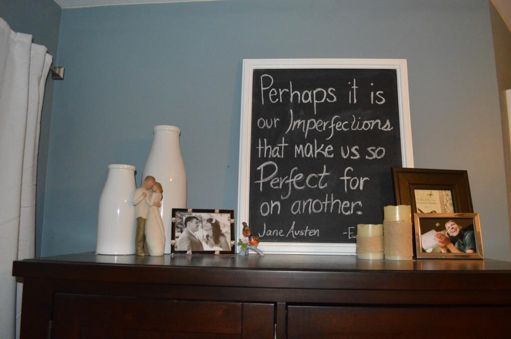 Jane Austen Love Chalkboard Quote