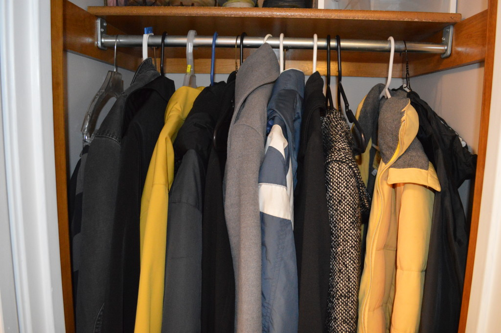 Lots of Coats in Closet