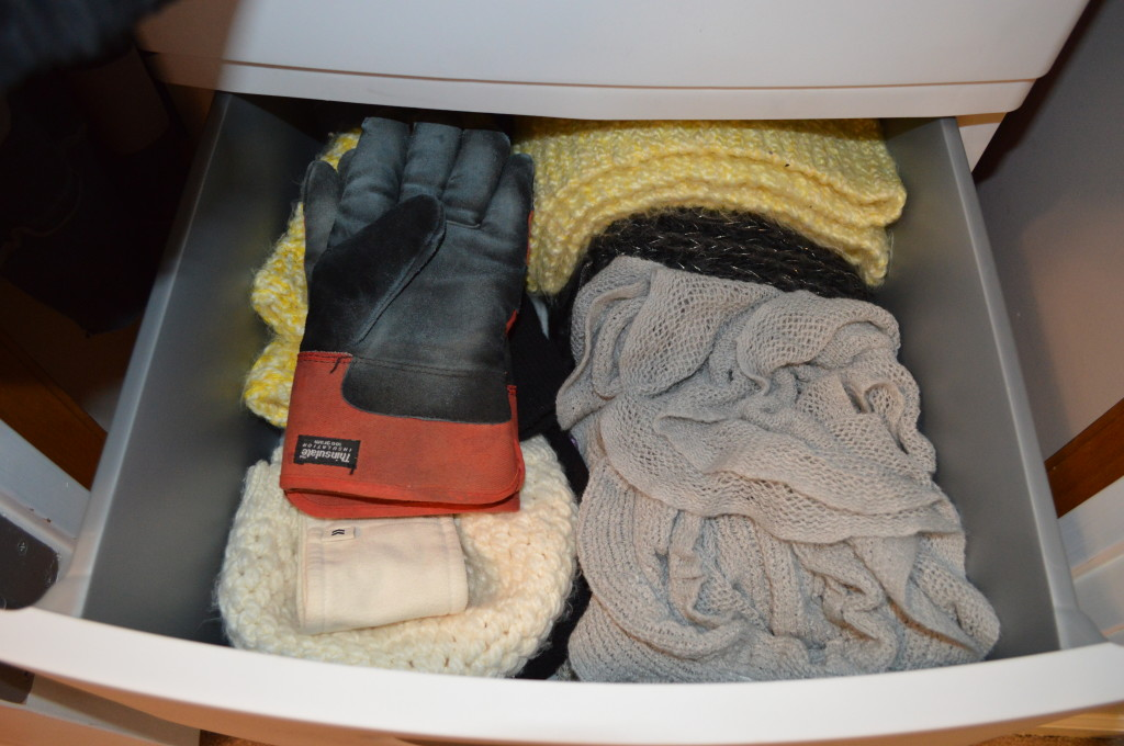 Melissa's Drawer in Coat Closet