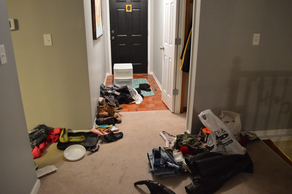 Messy Coat Closet Stuff 3