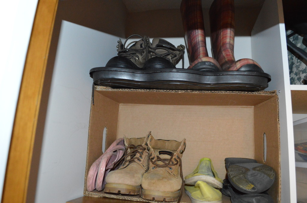 Shoes in Coat Closet
