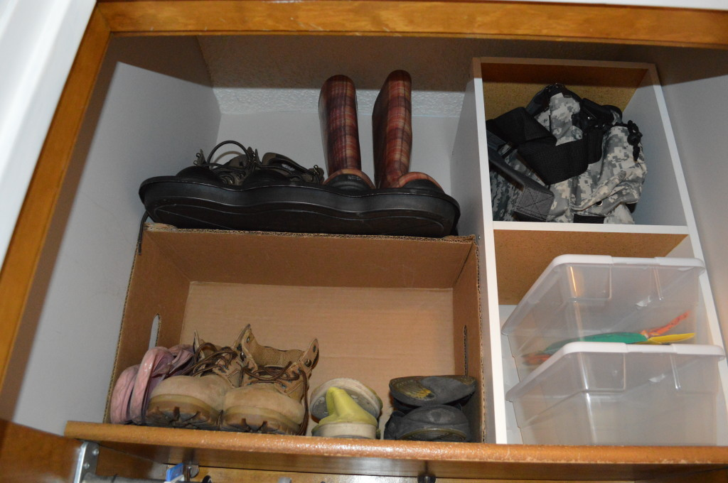 Upper Shelf in Coat Closet