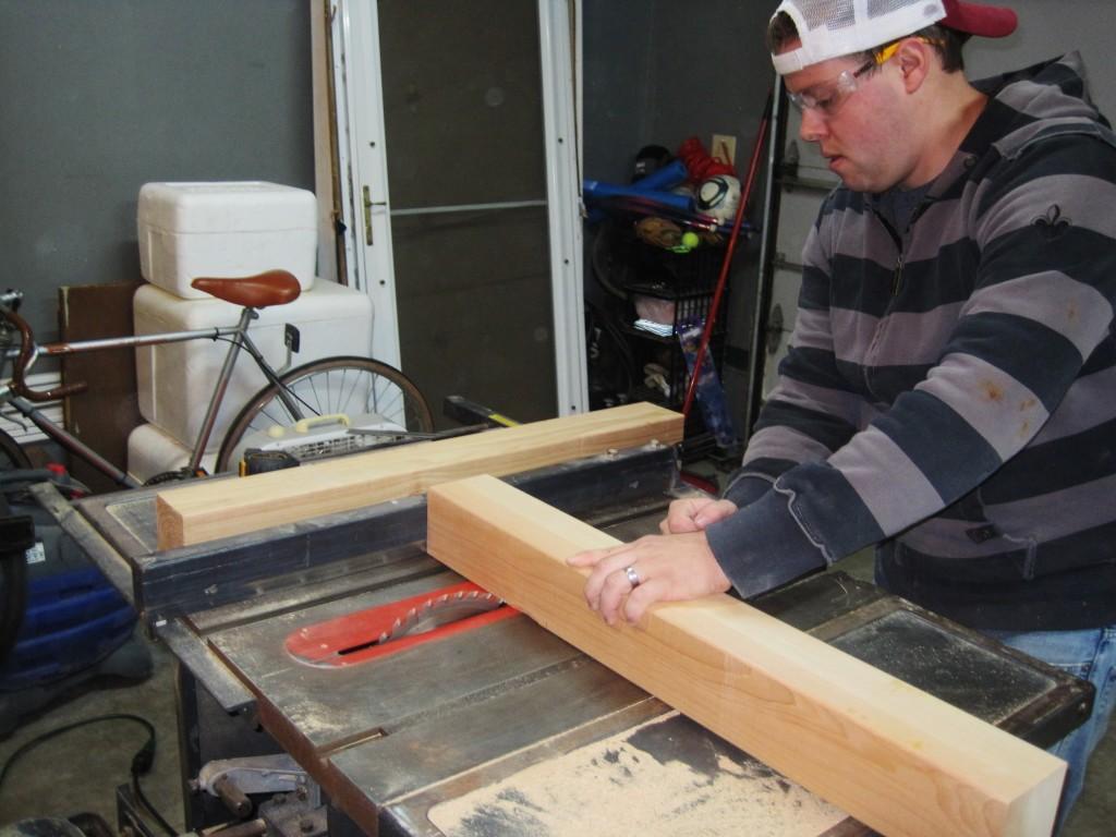 Wyatt making table base