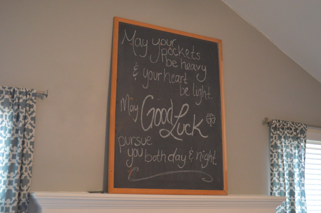 Irish Blessing Chalkboard Quote