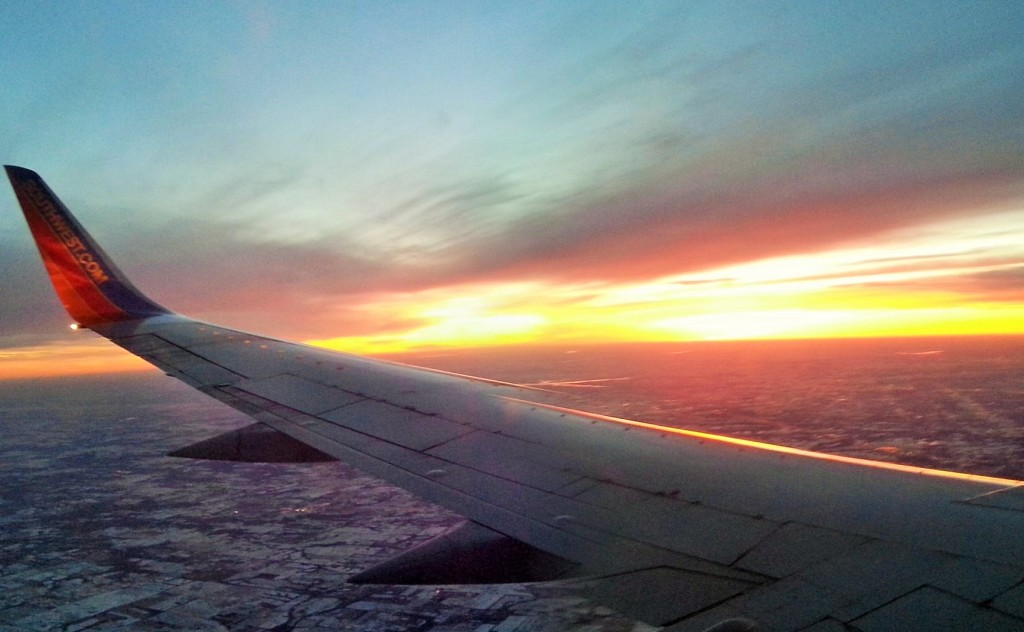 KC Sunset on plane