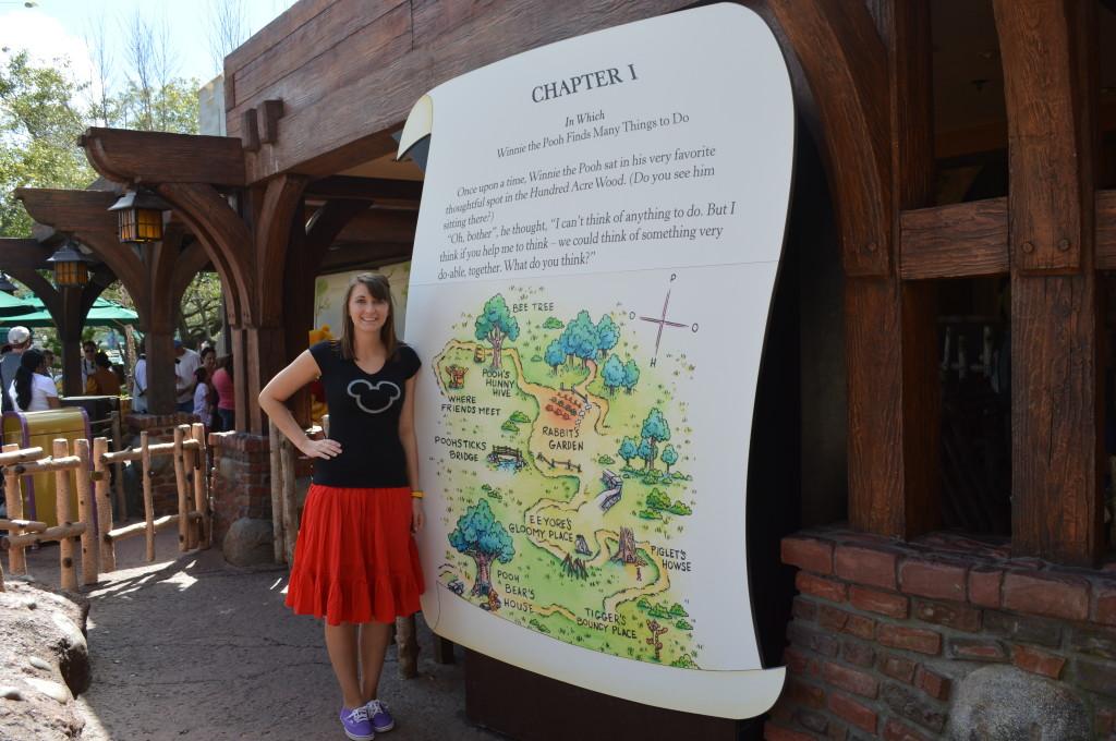 Melissa at Pooh Ride