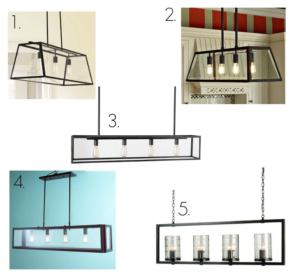 glass rectangular chandelier round up