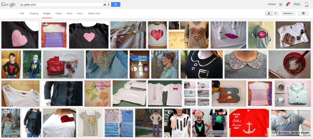 glitter tshirt google