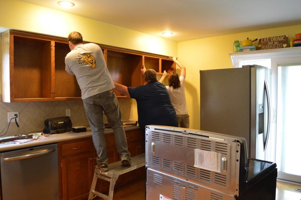 Demo Upper Kitchen Cabinets