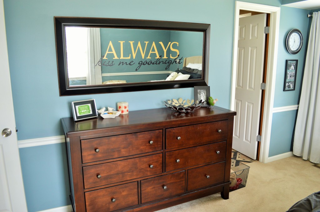 Dresser with Large Mirror Over It