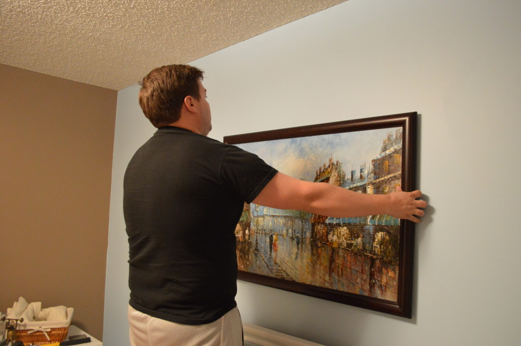 Hanging New Guestroom Painting