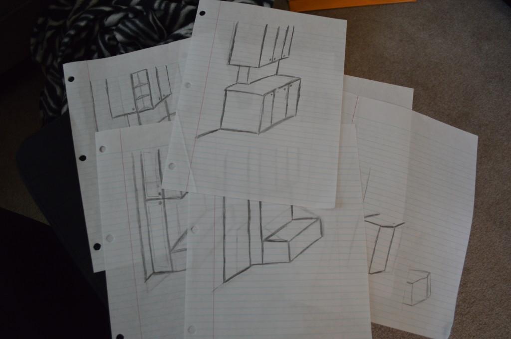 Kitchen Cabinet Sketches