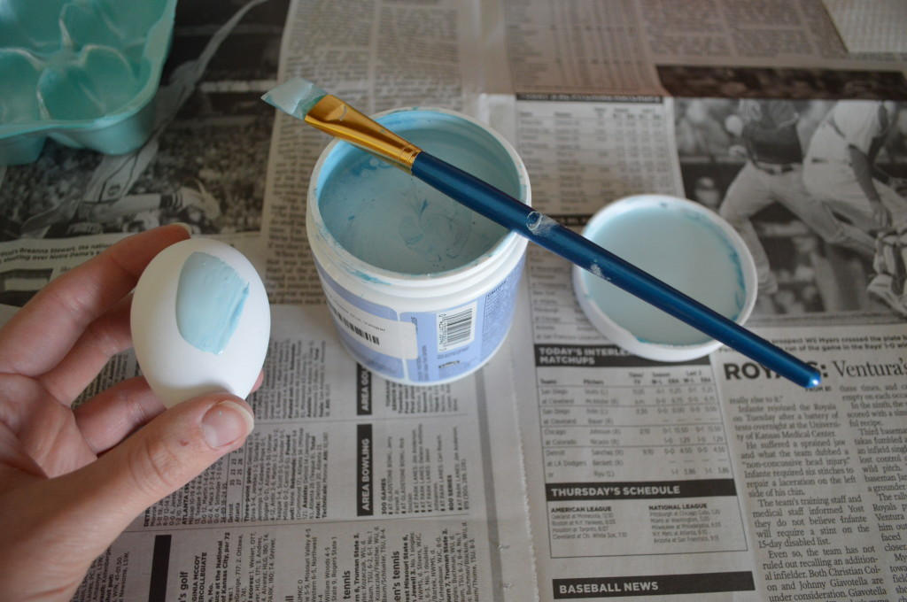 Painted Blue Easter Eggs 2