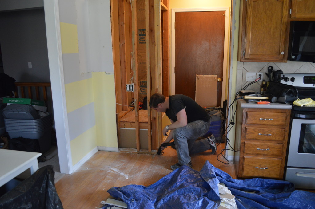 Removing Drywall in Kitchen 7