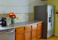 Tulips in Messy Kitchen Remodel