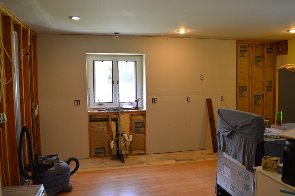 Adding Drywall to Kitchen