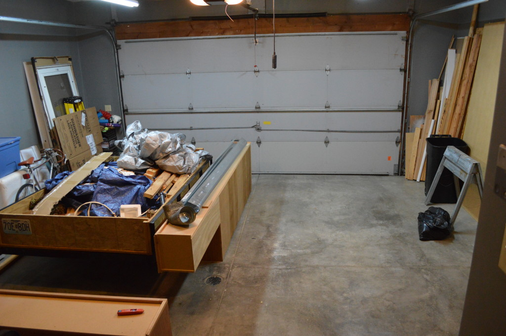 Cleaned Up Garage With Debris Load on Trailer