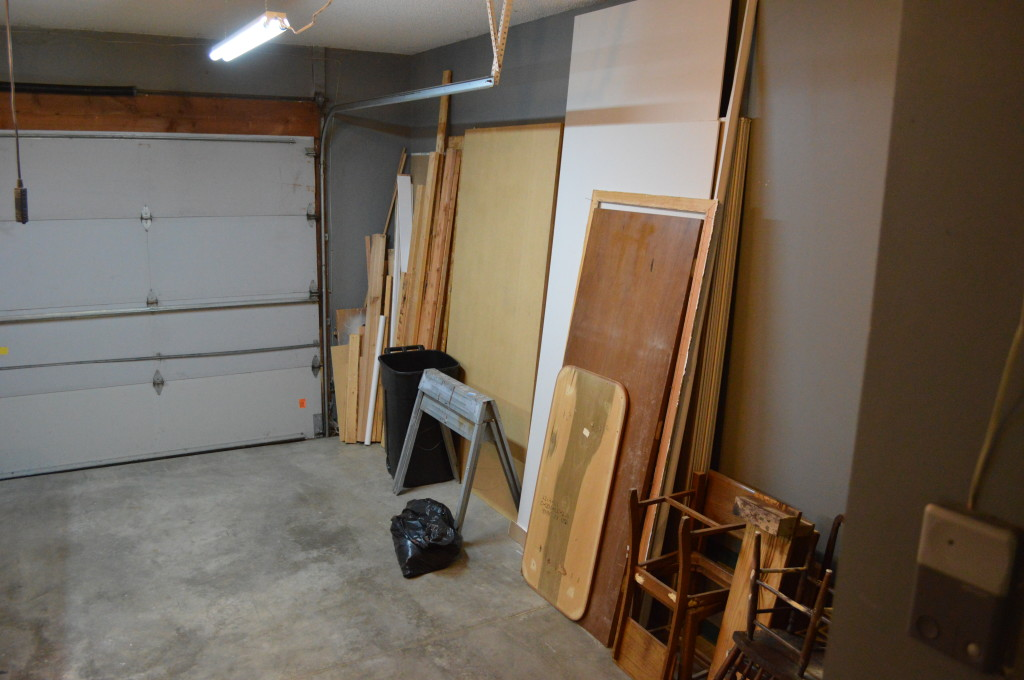 Cleaned up Garage Before Garage Sale