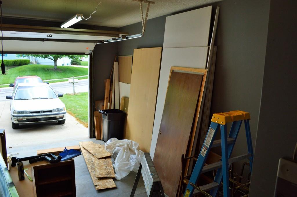 Messy Garage Before Garage Sale