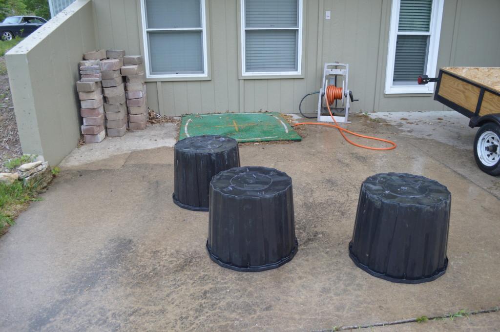 Plastic Garden Planter Barrels