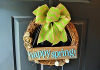 Spring Wreath On Front Door 2
