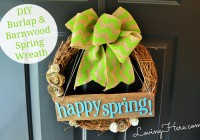 Spring Wreath Pin