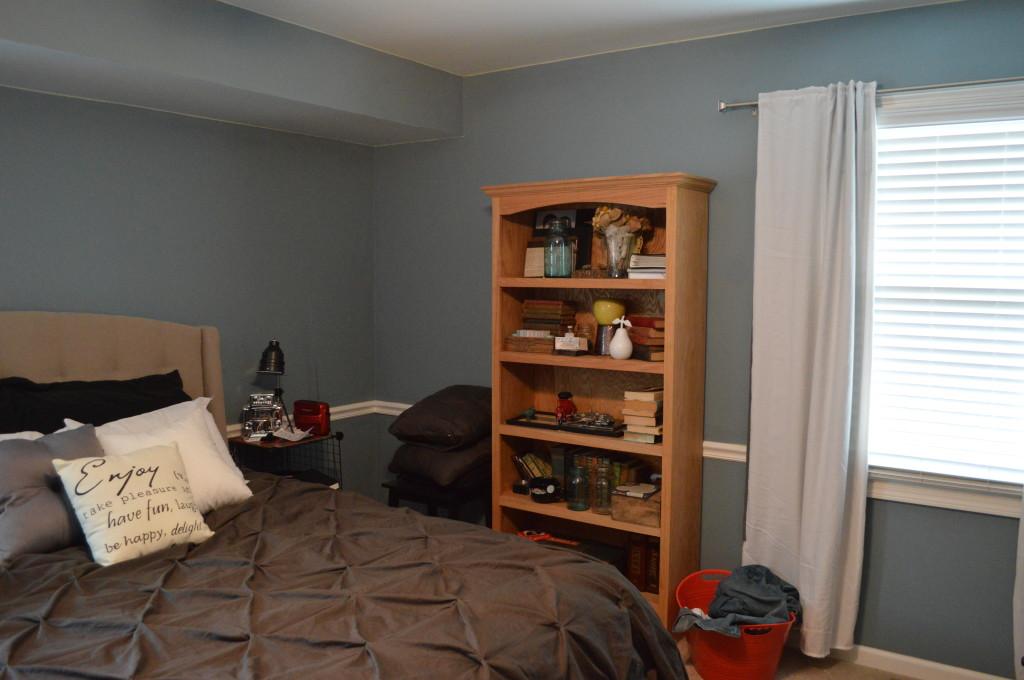 Bookshelves in Bedroom