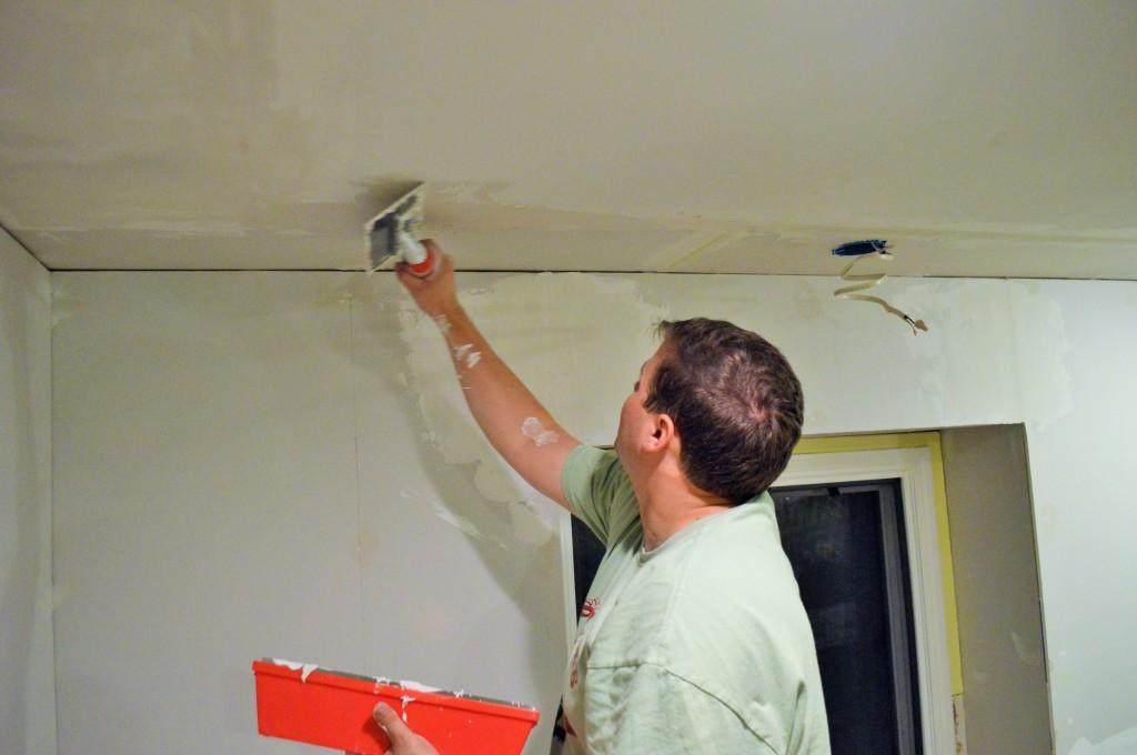 Drywall Mud on Ceiling