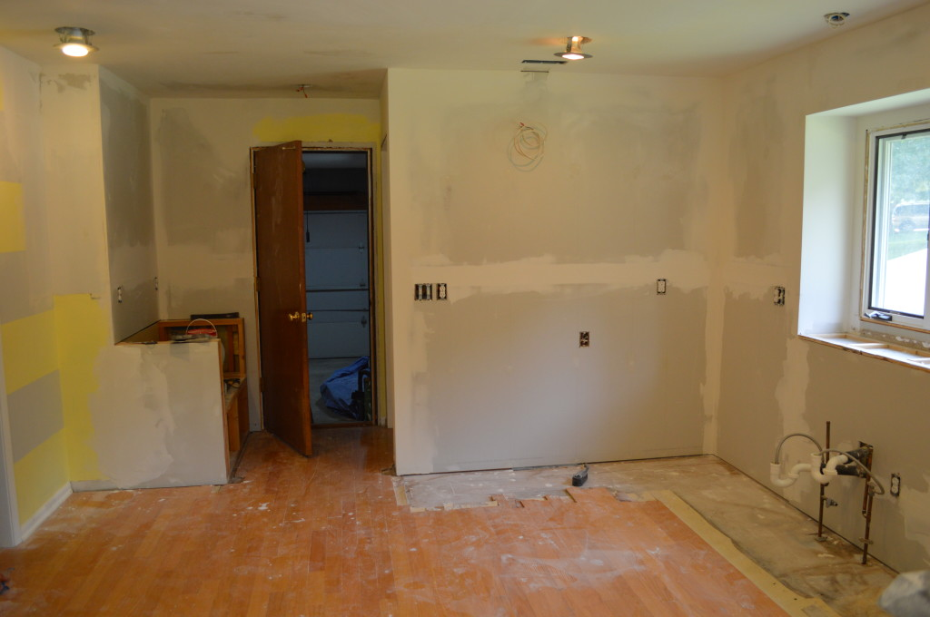 Finished Drywall in Kitchen
