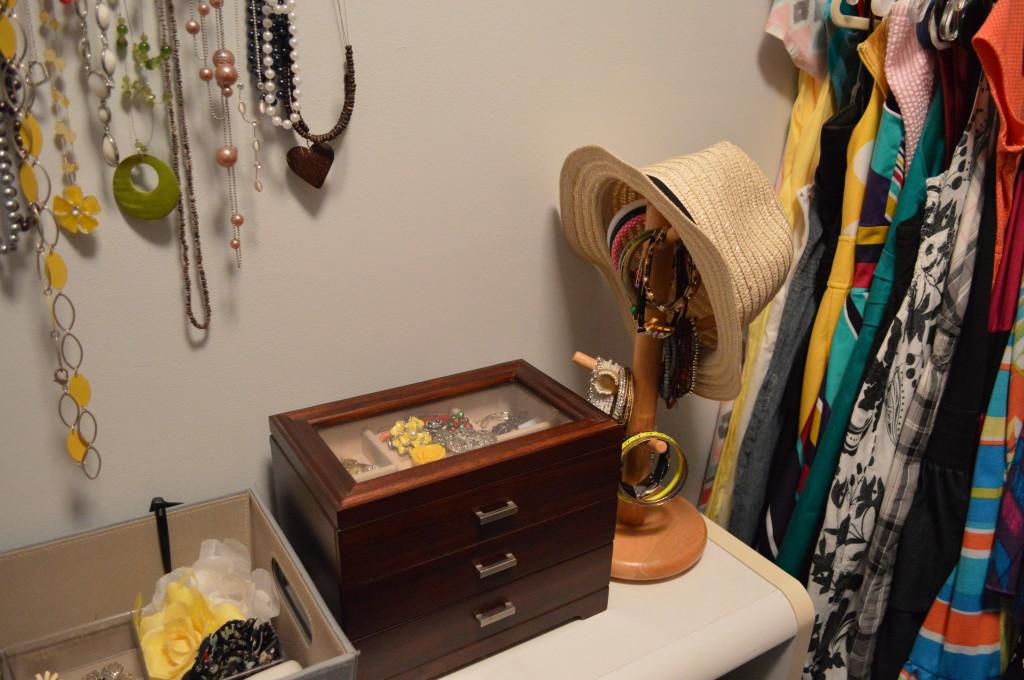 Hat Rack in Closet