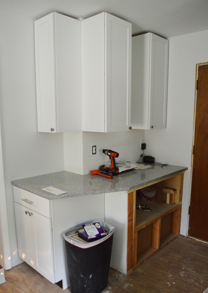 Nook Kitchen Cabinet Progress