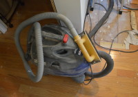 Sanding Drywall Mud With Shop-Vac Attachment
