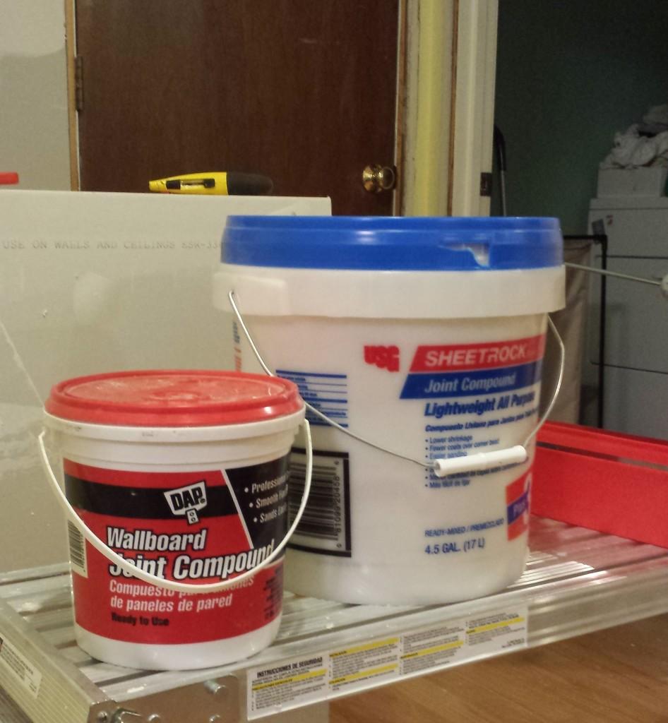 Tubs of Drywall Mud
