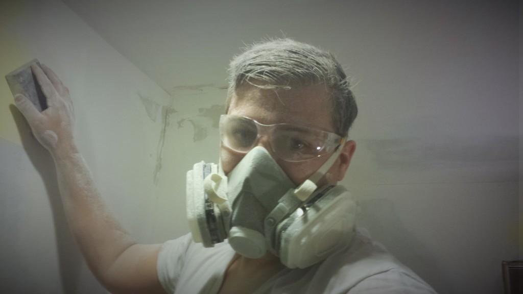 Wyatt Covered In Drywall Sanding Dust 2